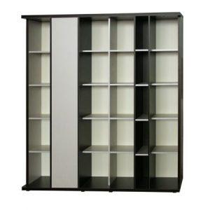 biblioteca-serena-wenge-argintiu-2200-x-2100-x-400-mm