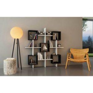 raft-de-perete-shelfie-130-x-130-x-20-cm-lara-blackwhite