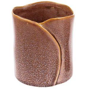 Ghiveci din ceramica, Maxx, maro, 11 x 10