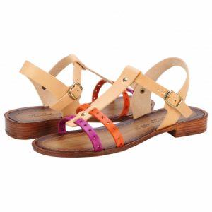 Sandale casual dama Les Italiennes multicolor, MARZIABN2492NATMULTI