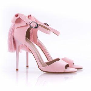 Sandale cu toc cui, roz, Cudo 2980 Pudra, de dama