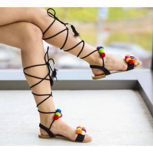 sandale bebel negre