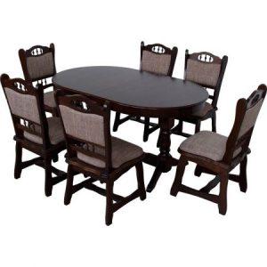 set-masa-extensibila-euro-1-wenge-cu-6-scaune