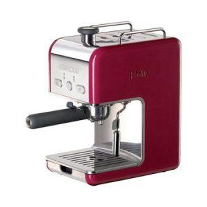 Espressor manual Kenwood kMix ES021, Dispozitiv spumare, Sistem Cappuccino, 15 Bar, 1 l, Rosu