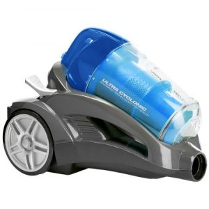 Aspirator fara sac Daewoo RCC-240L, 1400 W, 4 l, Tub telescopic, Filtru HEPA, Albastru