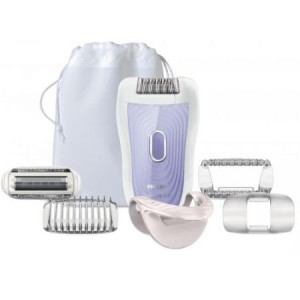 Epilator Philips Satin Soft HP652302, Wet & Dry, Discuri metalice