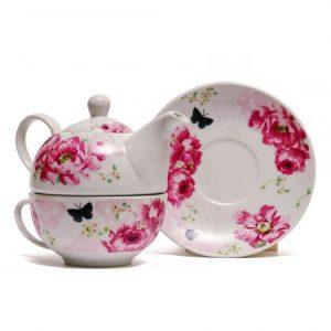 Ceainic Tea for One Bujor, 400 ml, Ceramica