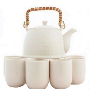 Set ceai Simple, 6 cesti si ceainic