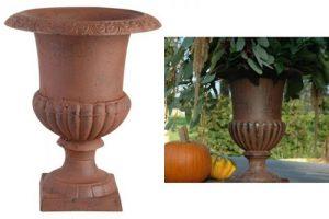 Suport flori-vas din fonta in forma de cupa 30 cm