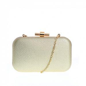 Clutch elegant, cu detalii metalice aurii de dama Meli Melo Paris