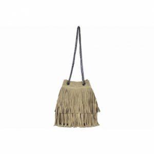 Geanta de umar grej din piele naturala Diva's Bag, de dama TR977